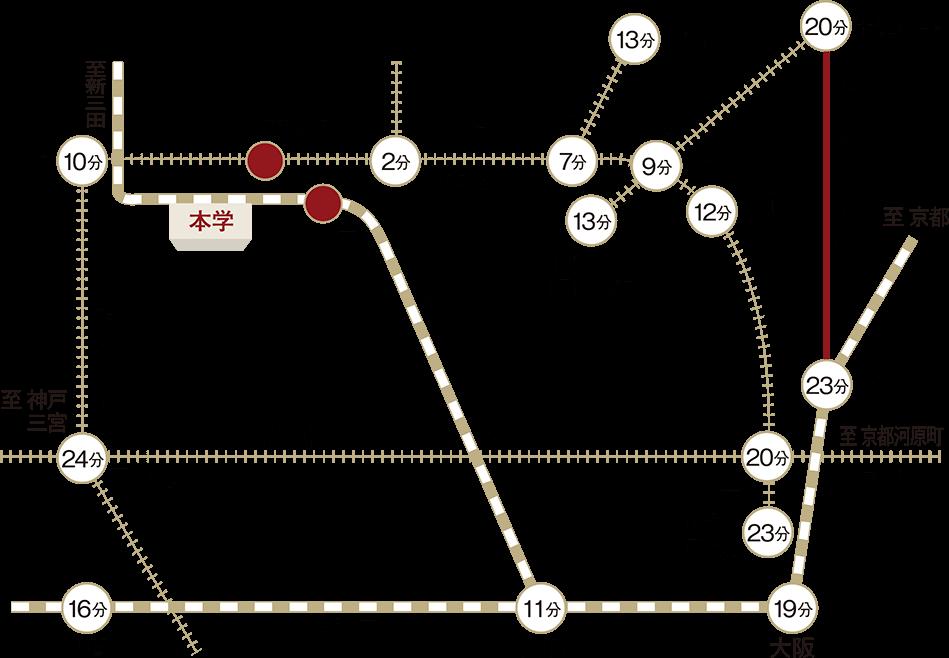 大学アクセス広域マップ