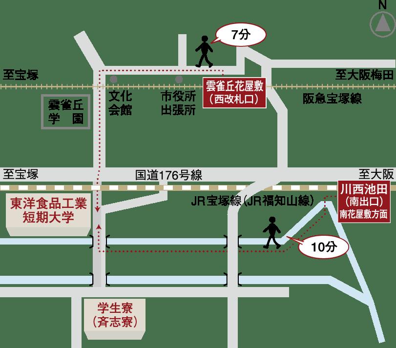 キャンパス周辺案内マップ